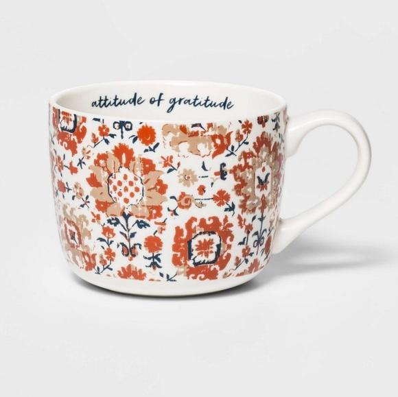"🍂SOLD🍁 ""Attitude of gratitude"" Threshold mug"